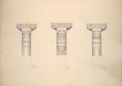 Cave 1, Details of Pillars f.34